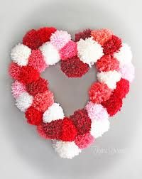 Image result for pom pom wreath