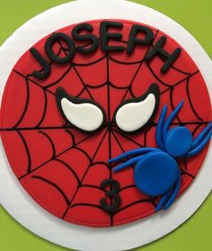 If you are planning a spiderman party here is a collection of spiderman cake ideas to help. Spiderman Cupcake Toppers, Spiderman Birthday Cake, Superhero Cake, Boy Birthday, Fig Cake, Cupcake Photos, Novelty Birthday Cakes, Batman Cakes, Cakes For Men