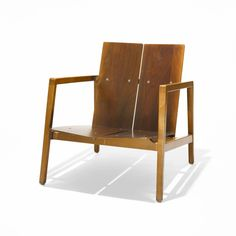 Lewis Butler; #645 Maple and Walnut Armchair for Knoll Associates, c1956.