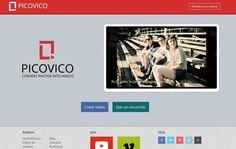 Picovico es una utilidad web gratuita para crear bonitos vídeos con nuestras fotos. Después podemos compartirlos en redes sociales, como Twitter y Facebook.