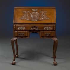 English Mahogany  Slant-Front Desk circa 1895