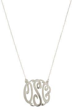 sterling filigree initial cut out necklace. www.jewelboxonline.com