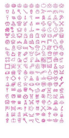 Create a special atmosphere for your projects with a set of hand drawn free PNG and SVG Halloween icons.