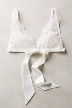 Ribboned Lace Bralette by Samantha Chang #anthrofave #anthropologie
