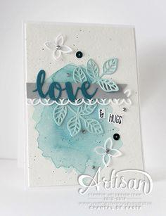 Love for Stamping: Love & Hugs, Sunshine Sayings, Sunshine Wishes Thinlits, Flourish Thinlits Dies