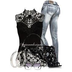 Zana Di Denim jeans, created by arjanadesign on Polyvore