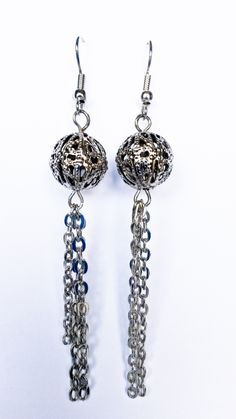 http://www.tibadesign.com Boucles d'oreilles perles et chaîne argent