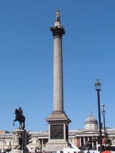 Admiral Nelson Memory. Trafalgar Square. London. England.