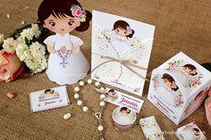 Imprimibles de Primera Comunión para niñas estilo rústico