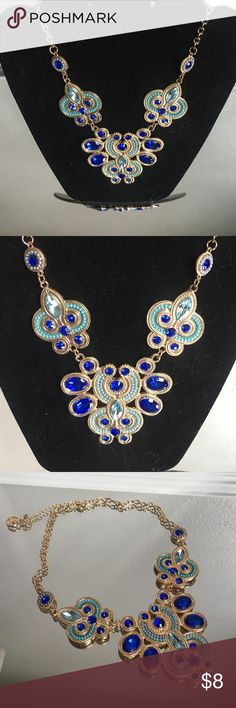 """Blue and Turquoise Statement Necklace Blue and Turquoise Statement Necklace.  Excellent Condition.  Measures 19.5"""" with multiple sizing options. Jewelry Necklaces"""