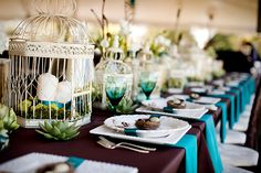 Vintage Teal Peacock Wedding from Katelyn James Photography & Jasmine Star Photography | Heart Love Weddings