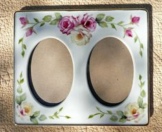 Porcelain Painted Double Frame by Chinapainter1 on Etsy, $28.00
