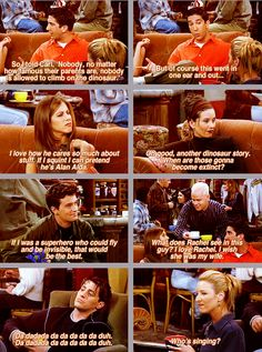Friends 'The One With the Race Car Bed'. one of the best scenes ever! Serie Friends, Friends Moments, Friends Tv Show, Friends Forever, Friends Cast, Friends Episodes, Tv Quotes, Movie Quotes, Funny Quotes