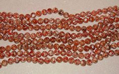 SHELL-MOTHER OF PEARL-LOOSE BEADS-ORANGE-10 MM ROUND-15 COUNT-PLUS FREE GIFT-$4.19   eBay