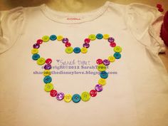 Tutorial for no sew Mickey shirts made out of buttons for less than $6 a shirt!