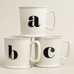 Monogram Porcelain Mug Collection | World Market