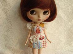 Boat dress for Blythe Doll via Love Blythe Doll