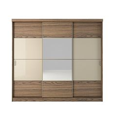 Manhattan Comfort Hudson 3-Sliding Doors Wardrobe in Choc...…