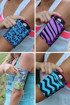 Cell phone armbands that fit most phones! Doesn't slip, works with headphones… Fitness Tips, Health Fitness, Fitness Gear, Workout Wear, Workout Shorts, I Work Out, Organizer, Get In Shape, Excercise