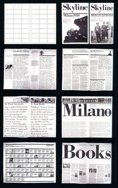 Massimo Vignelli (designer of DC Metro signage), Page Layout, Layout Design, Print Design, Editorial Layout, Editorial Design, Massimo Vignelli, Graph Design, Grid Layouts, Magazine Layouts