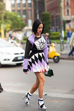 Tell me about your outfit, what you are wearing? - Im wearing dress from Fausto Puglisi. Read...