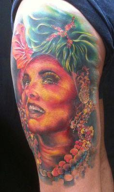 Color Portrait Tattooing By Brandon Notch... (Sacred Saint)