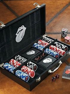 The perfect gift for the poker enthusiast in your life, the Rolling Stones Poker Set offers poker essentials and a collectible item they're sure to cherish for years to come.