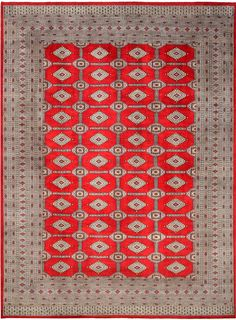 Jaldar design originated in Pakistan with inspiration from traditional Sarouk and Yamud designs. A typical Jaldar design is often in silk and wool with similar Gul motifs, although more elongated and diamond-shaped, to a Bokhara rug repeated in rows.  http://www.alrug.com/4919