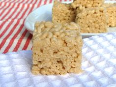 Healthy Rice Krispie Treats - NO margarine, no marshallows.  How-to video included with recipe!