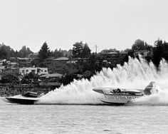 Hydroplane Race Atlas Van Lines Bill Muncey Vintage 8x10 Reprint Of Old Photo