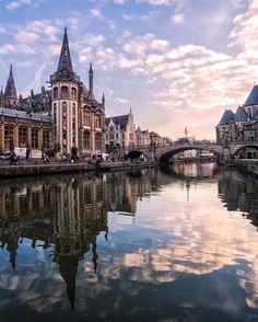 St. Micheal's Bridge, Gent, Belgium