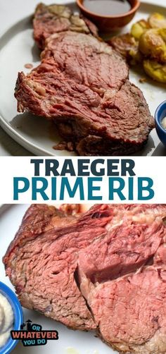 Our Traeger Smoked Prime Rib Roast is a boneless rib roast seasoned with rosemary, salt, pepper, and garlic, and then cooked in a pan on the pellet grill or smoker with mirepoix and au jus. You'll never go back to the oven version once you try this easy Traeger recipe.