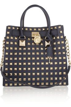 Michael Kors studded tote. Love the lady-like shape mixed with the edgy hardware.