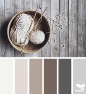 Explore Design Seeds color palettes by collection. Paint Color Schemes, Colour Pallete, Taupe Color Schemes, Home Color Schemes, Basement Color Schemes, Taupe Color Palettes, Rustic Color Schemes, Paint Themes, Color Tones
