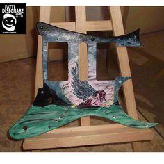 #Mascherina #Ibanez Jem dbk #painting #acrylics #colors #GiuseppeLombardi #FattDisegnare #customization #guitar #italy