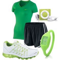 Nike Pro Green