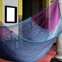 Many one of a kind hammocks hand made on this site.