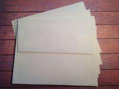 10 Plain Vanilla envelopes, 5 x 7 envelopes, A7 envelopes, Cream envelopes, DIY envelopes, by PinkyPromiseBargains on Etsy