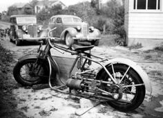 Steam motorcycle, 1947