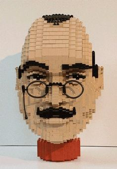 "Lego Art ~ Dirk Denoyelle, ""Lego David ""Poirot"" Suchet"""