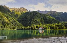 Lago di Anterselva by BelaTorok  Dolomites Italy Lago di Anterselva lake mountains reflection summer sunset travel water Lago di Ante