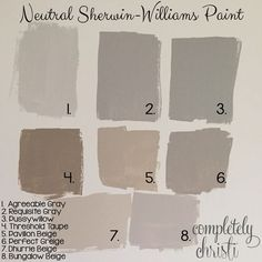 Neutral Sherwin Williams paint colors by patsy