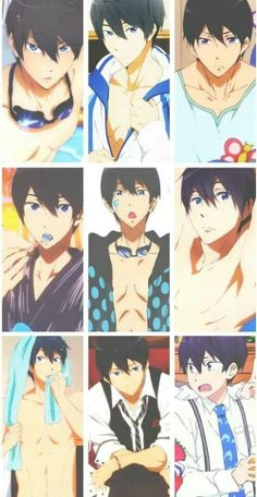 Haruka Nanase/ his face and body are good references