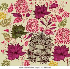 Vintage Flower Backgrounds, Background Vintage, Vintage Flowers, Vintage Floral, Pattern Illustration, Vintage Pictures, Vector Free, Print Patterns, Wallpaper