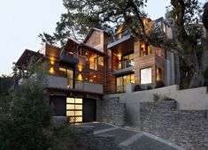Mill Valley Hillside House by SB Architects is the first LEED Platinum home in Marin County.