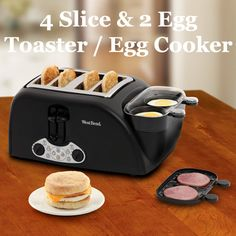 The 4 Piece Toaster with Egg Cooker! This is a super cool cooking appliance that you just have to add to your kitchen! Check it out: www.coolgadge.com/toaster-with-egg-cooker.html