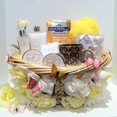 (Spa Gift Basket) Live Love Love Life enjoy this pure spa basket fill with