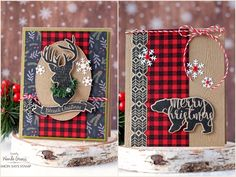 SSS Magical Christmas deer stag and bear, SSS Gingham, MME Comfort & Joy DSP