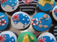 Celebrate all things Aussie this long weekend with these gorgeous Aussie Food, Australian Food, Australia Day Celebrations, Anzac Day, Cupcake Heaven, Novelty Cakes, Yummy Cupcakes, Party Treats, Cupcake Toppers