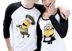 Despicable Me Minion Couple Tshirts Black and White